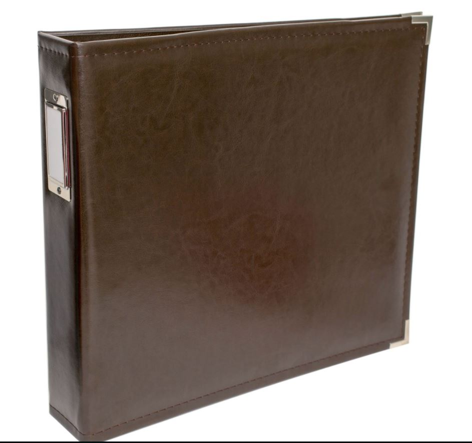 "12x12"" Leather Album- Brown"