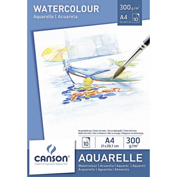 בלוק נייר לצבעי מים Canson Watercolor - A4