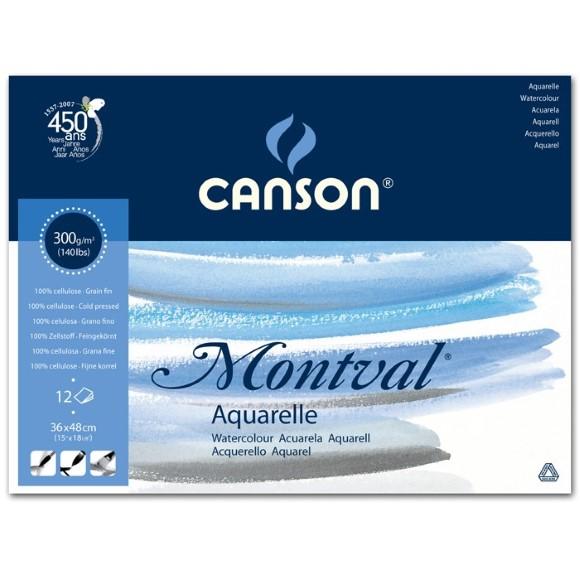 בלוק נייר גדול לצבעי מים - Canson montval