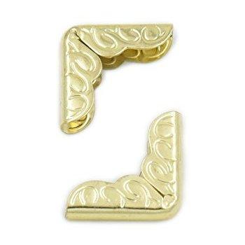 פינות מתכת - זהב עם עיטור מסולסל
