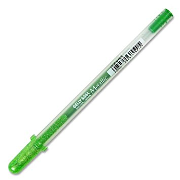 עט ג'ל - Gelly Roll Metallic - Green