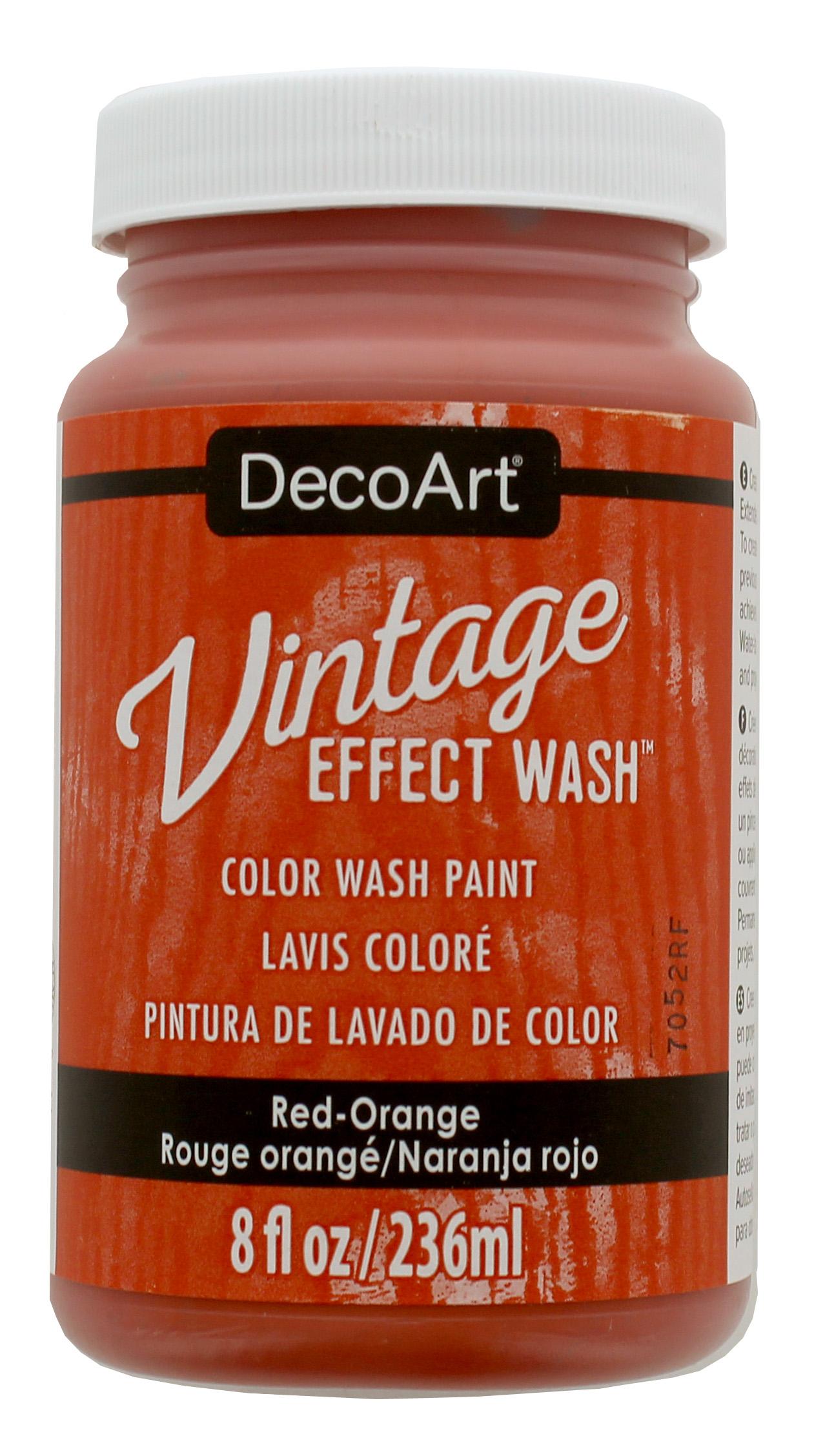 Vintage Effect Wash - Red Orange