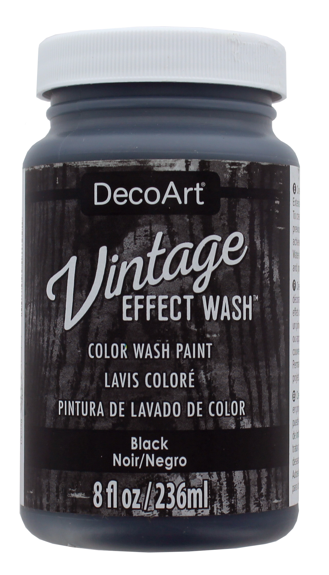 Vintage Effect Wash - Black