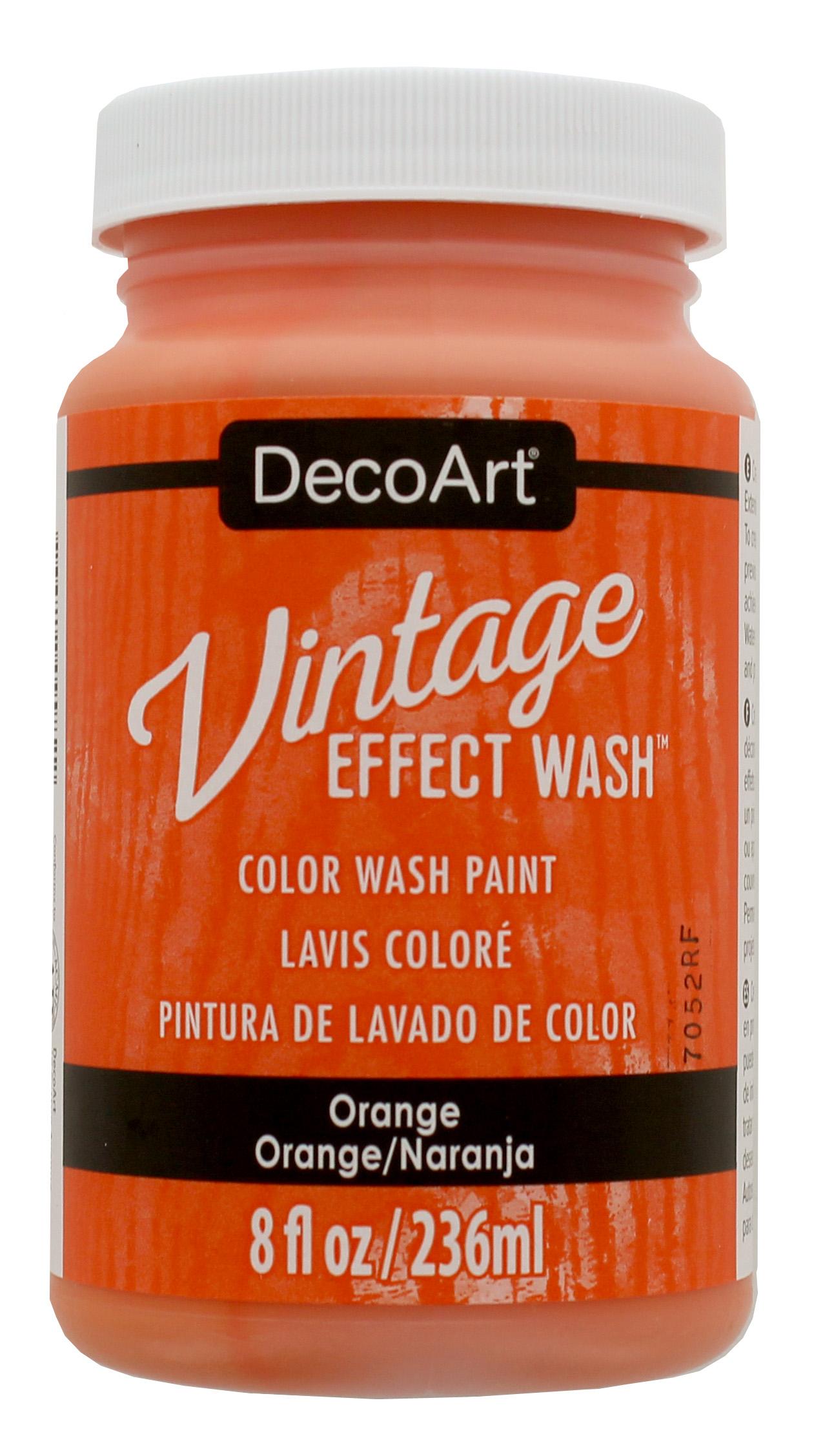 Vintage Effect Wash - Orange