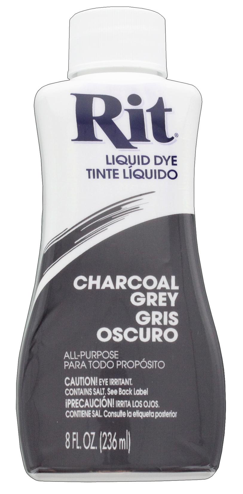 צבע לבדים Rit Dye Liquid - Charcoal Grey