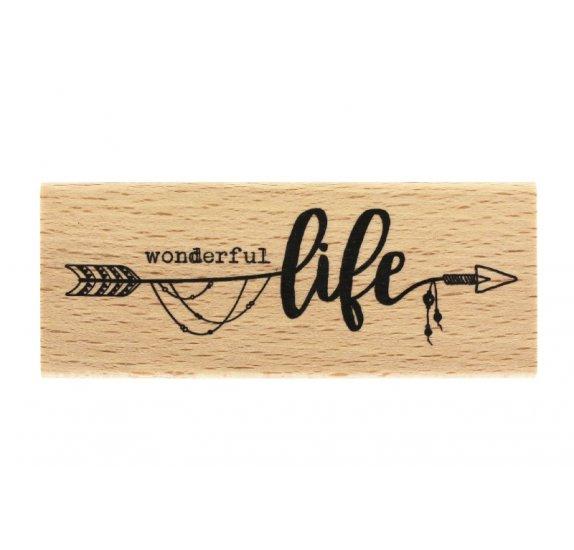 חותמת עץ - Wonderful Life