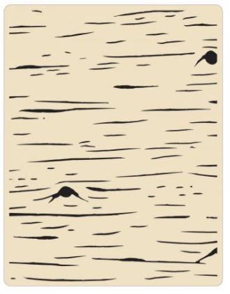 תבנית הבלטה- Texture Fades Embossing Folder - Birch