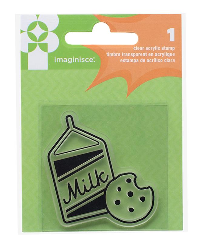 חותמת סיליקון - Milk & Cookies Clear Stamp