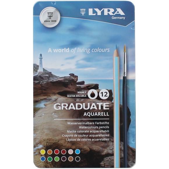 סט 12 עפרונות אקוורל - Graduate Aquarell