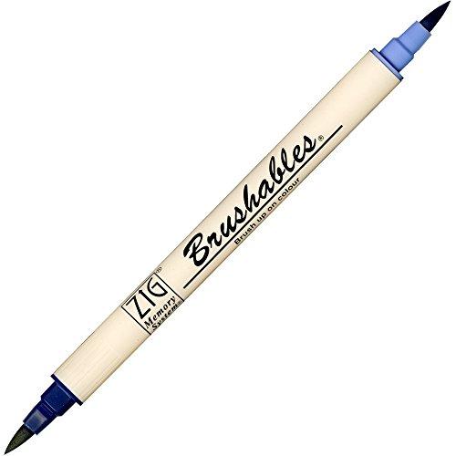 Zig Brushable Marker Pen - 035 Navy
