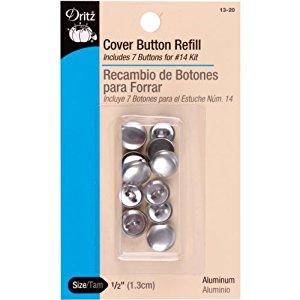 מילוי כפתורים לציפוי בבד - Refill Cover Button - Size 20