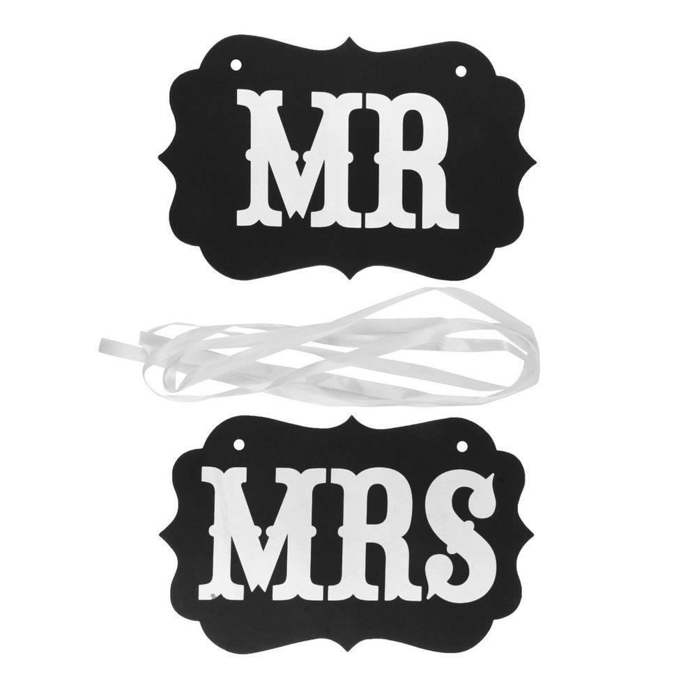 באנר לחתונה - MR / MRS