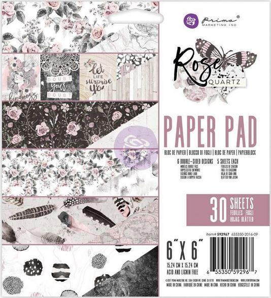 6X6 Paper Pad - Rose Quartz
