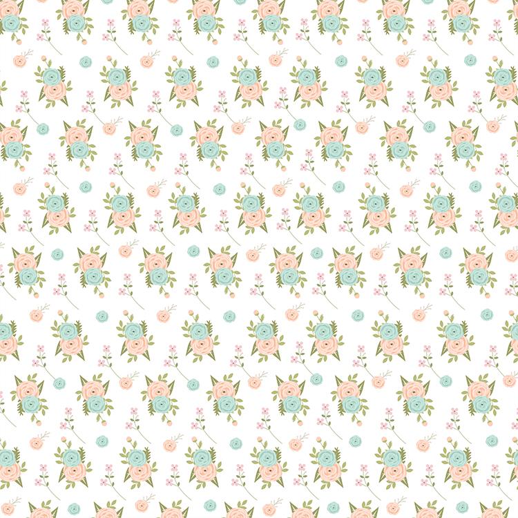 דף קארדסטוק - רוח קיצית - פרחוני רקע לבן