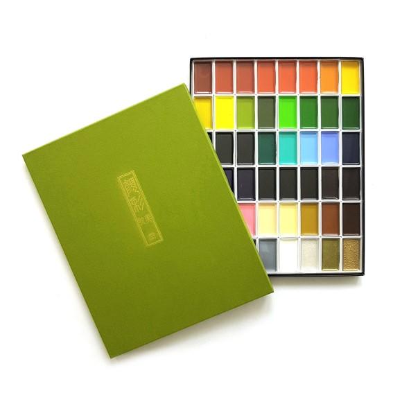 צבעי מים - Kuretake Gansai Tambi 48 Color Set