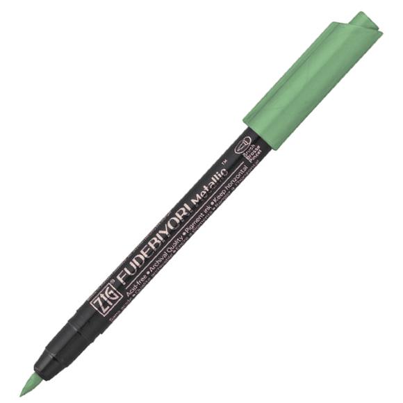טוש מטאלי Zig Fudebiyori metallic - green