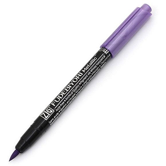 טוש מטאלי Zig Fudebiyori metallic - violet