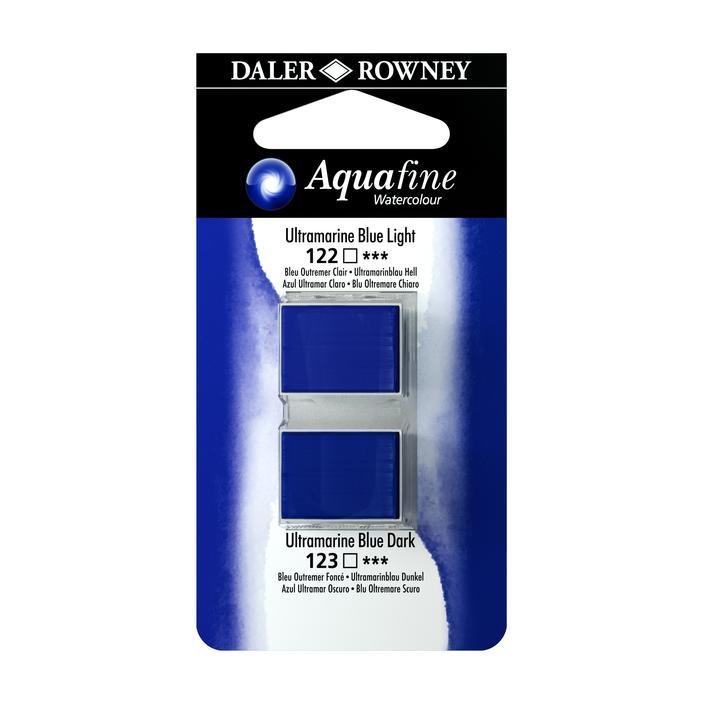 זוג קוביות צבעי מים 122/123 כחולים