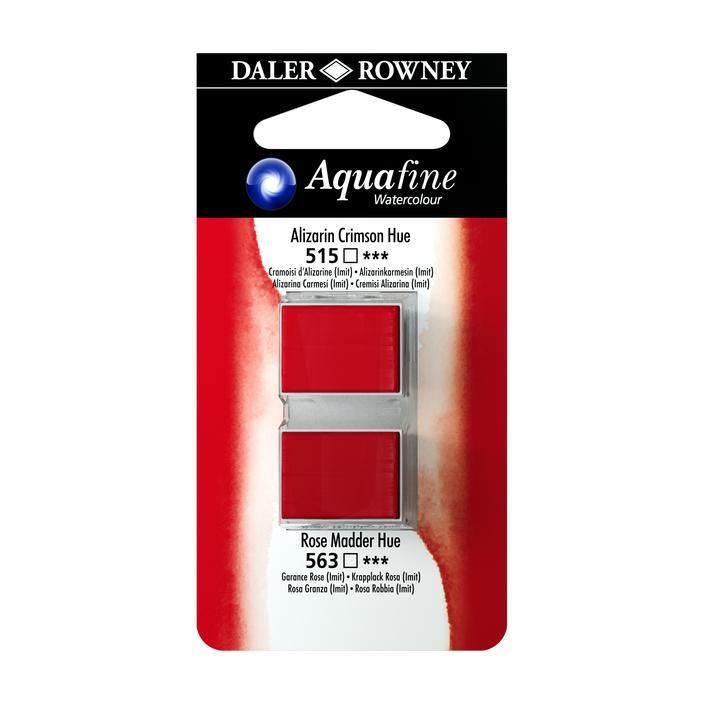 זוג קוביות צבעי מים 515/563 אדומים