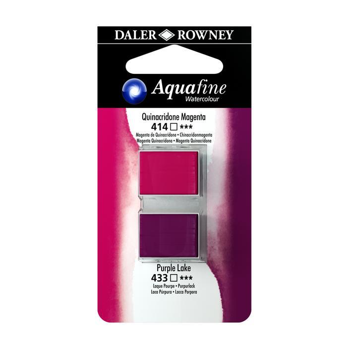 זוג קוביות צבעי מים 414/433 מג'נטה סגול