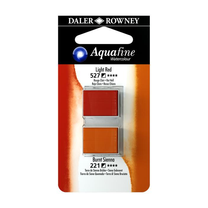 זוג קוביות צבעי מים 527/221 חומים
