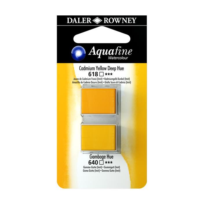 זוג קוביות צבעי מים 618/640 צהובים