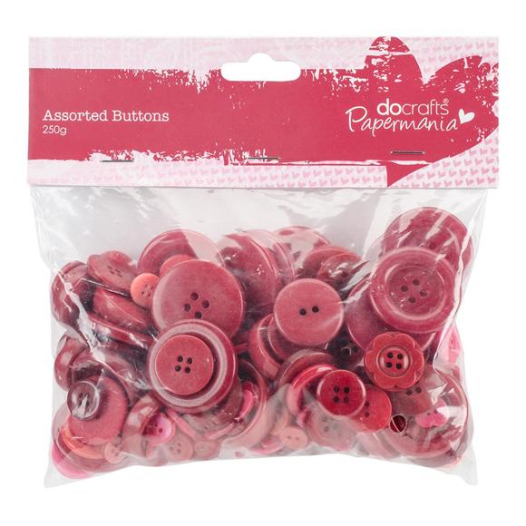 מארז כפתורים - Buttons Assorted Red