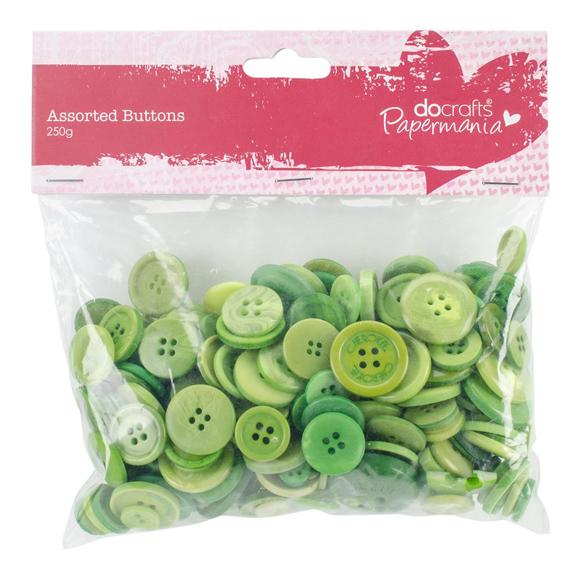 מארז כפתורים - Buttons Assorted Green