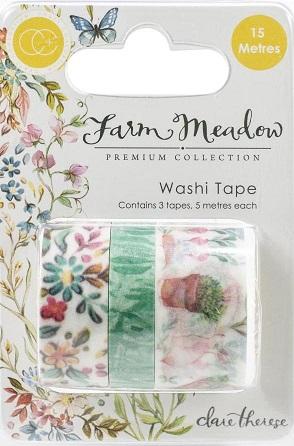 מארז וואשי טייפ - Craft Consortium - Farm Meadow