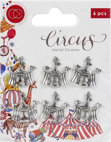 עיטורי מתכת - Craft Consortium Circus Metal Charms