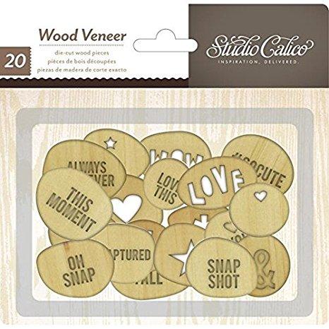חיתוכי עץ - Wood Veneer - Circles With Words