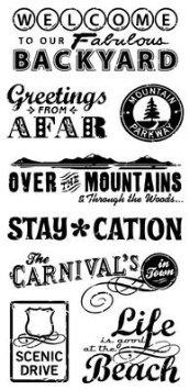 חותמות סיליקון - Travel - Clear Stamp Set