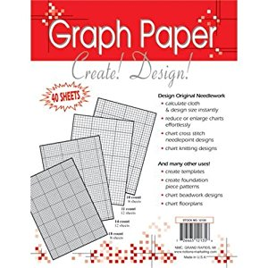 חוברת שרטוט לרקמה - Needlework Graph Paper