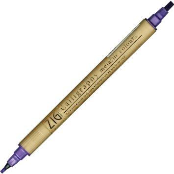 ZIG Calligraphy Metallic Marker - Violet