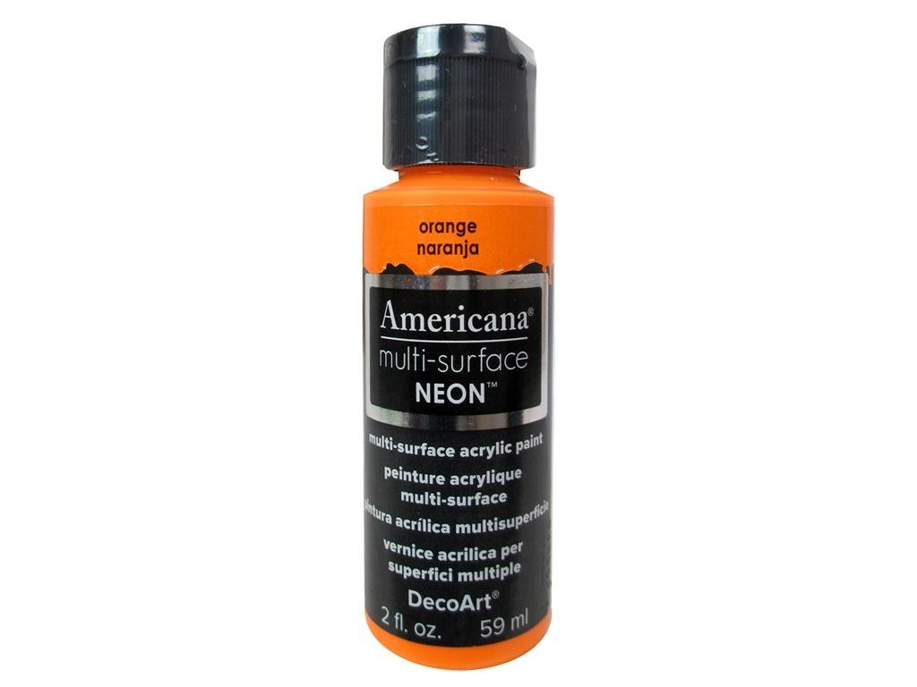 Americana Multi-Surface Neon Paint - Orange