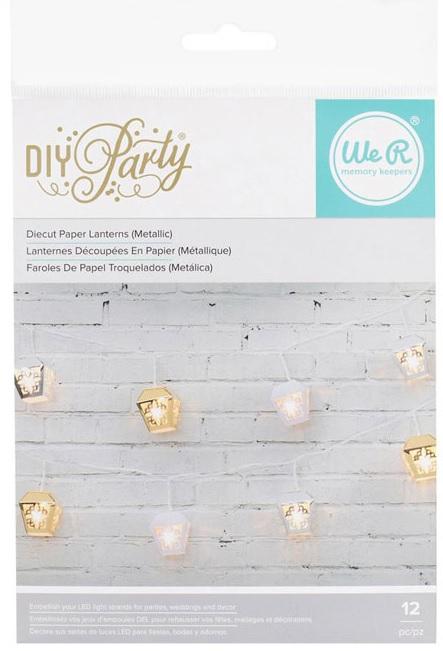 Light Strand - Lanterns - Gold, Silver, White
