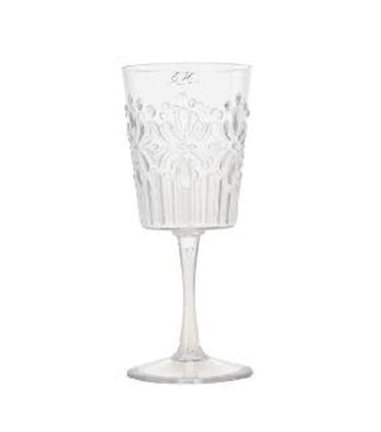 כוס יין אקרילית שקופה
