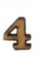 מספרי עץ חיתוך לייזר - הספרה 4 קטן