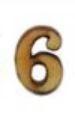 מספרי עץ חיתוך לייזר - הספרה 6 קטן