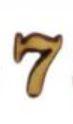 מספרי עץ חיתוך לייזר - הספרה 7 קטן