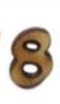 מספרי עץ חיתוך לייזר - הספרה 8 קטן