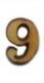 מספרי עץ חיתוך לייזר - הספרה 9 קטן