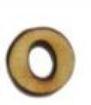 מספרי עץ חיתוך לייזר - הספרה 0 קטן