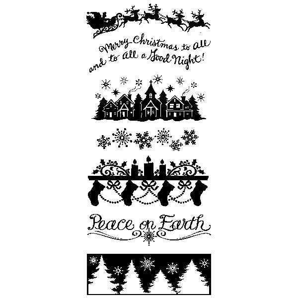 חותמות סיליקון - Clear Stamp - Holiday Silhouette