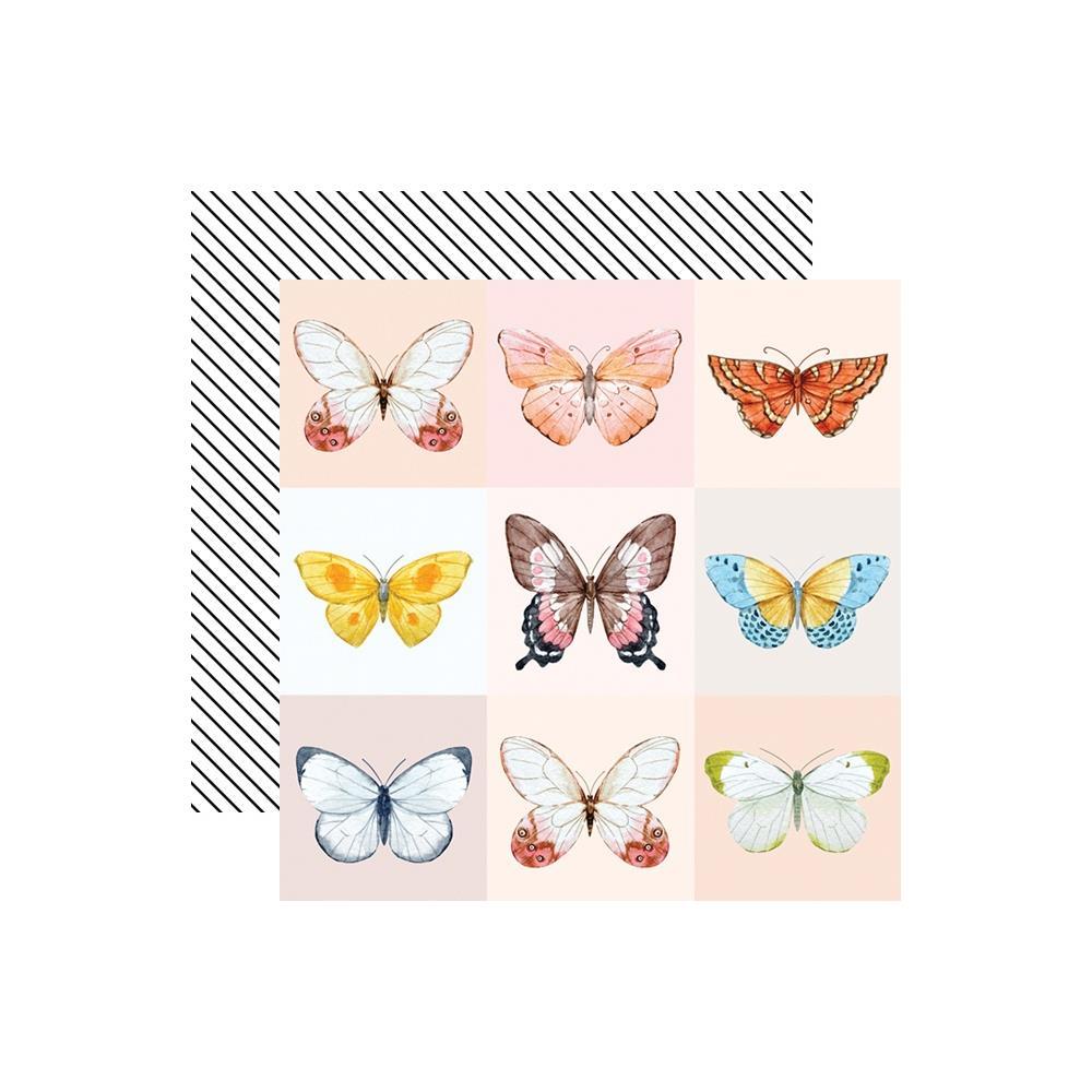 דף קארדסטוק דו צדדי - Love Is In The Air - Butterfly