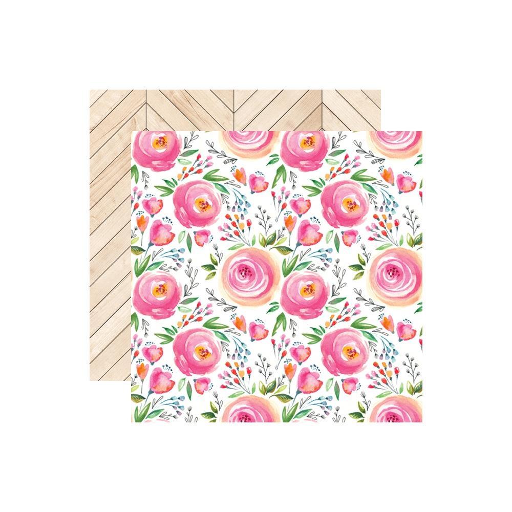 דף קארדסטוק דו צדדי - Changing Colors - Bouquet Branch