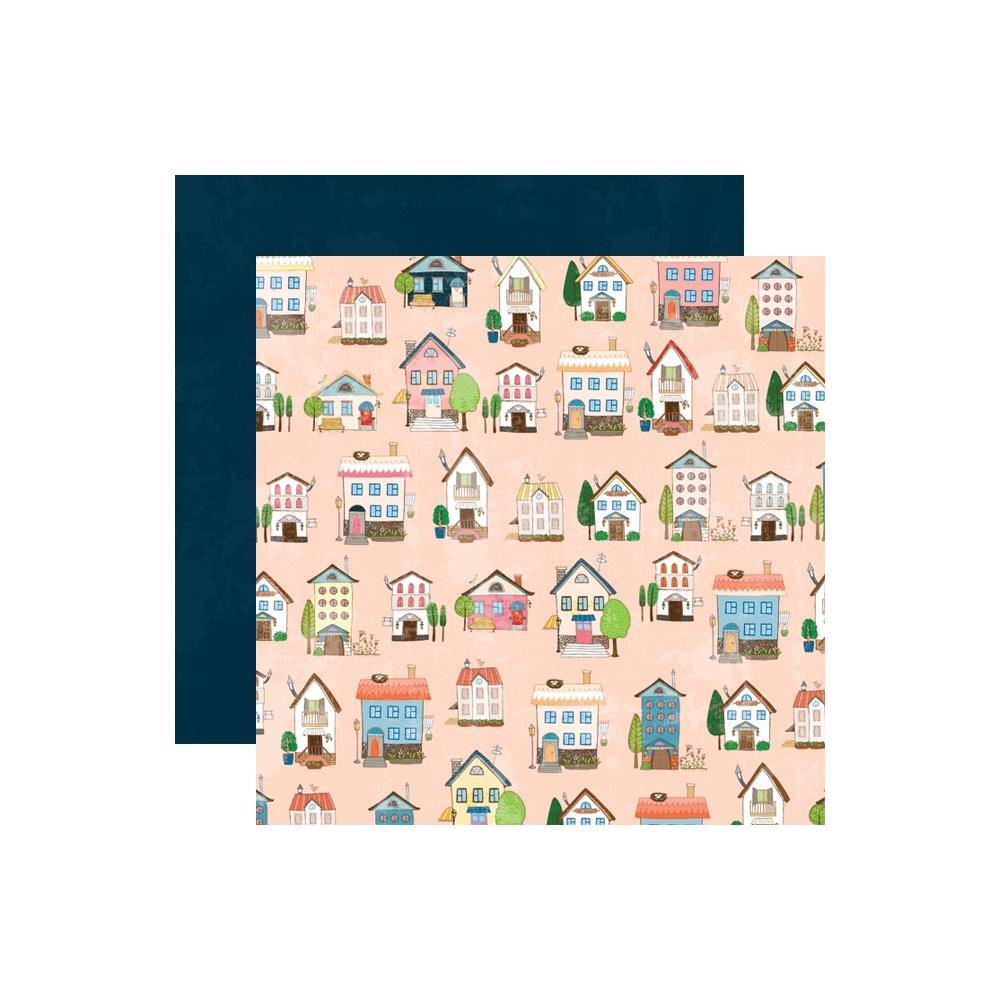 דף קארדסטוק דו צדדי - Changing Colors - Home Sweet Home