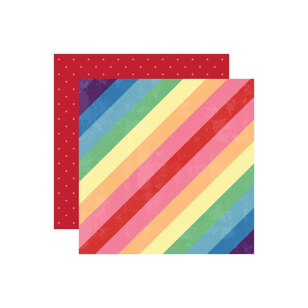 דף קארדסטוק דו צדדי - Changing Colors - Stripes