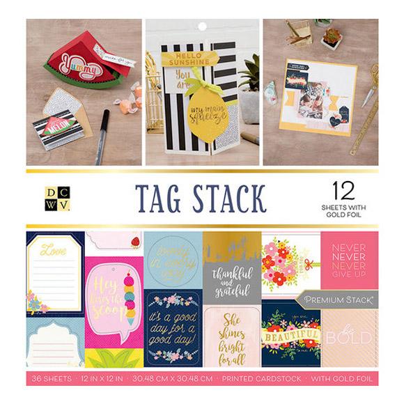 "מארז דפי קארדסטוק ""12 Tag Stack Collection"