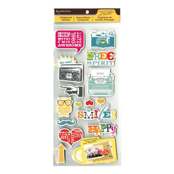 מדבקות צ'יפבורד CC - Chipboard Stickers